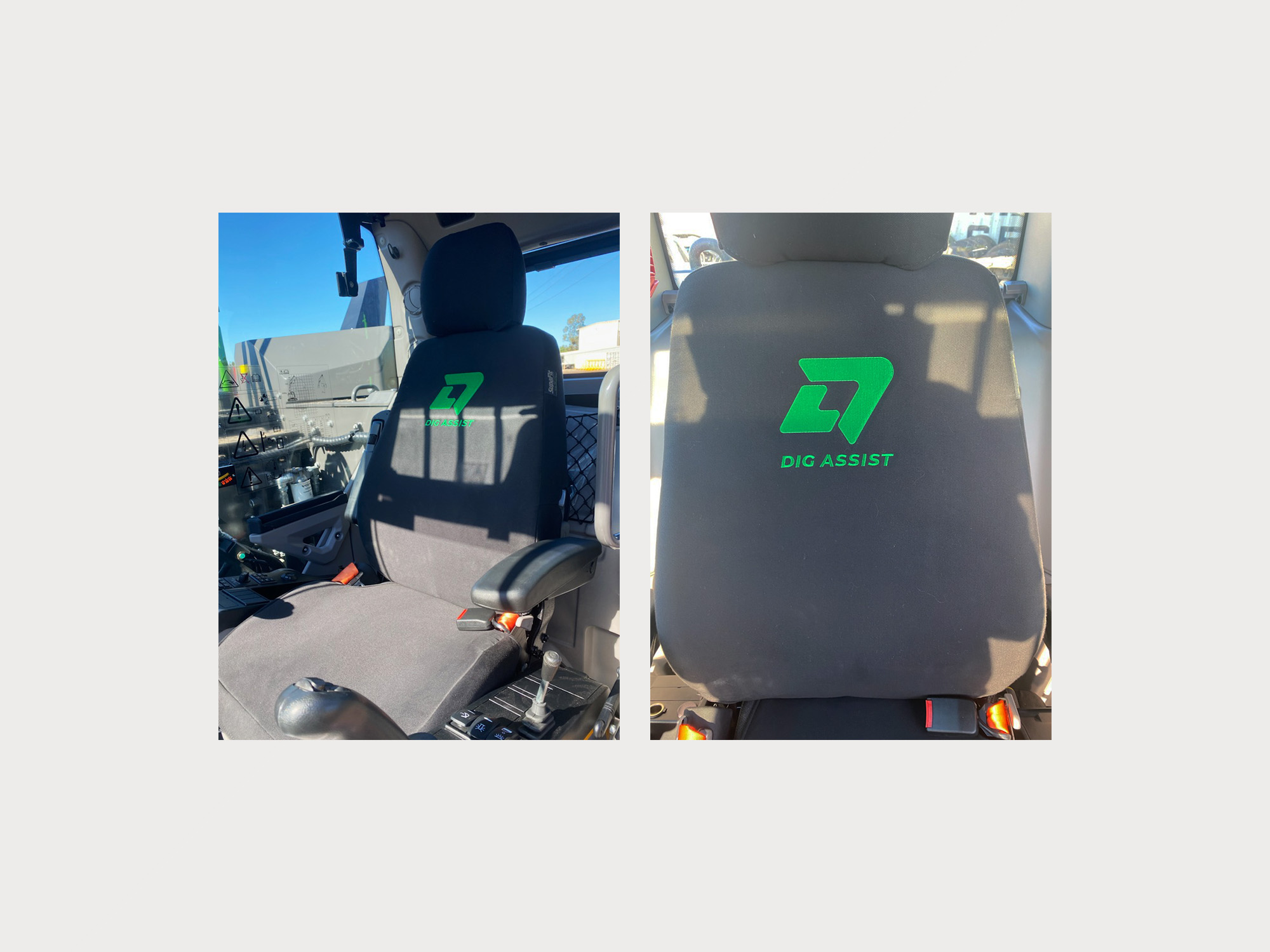 Logo on Seat Covers