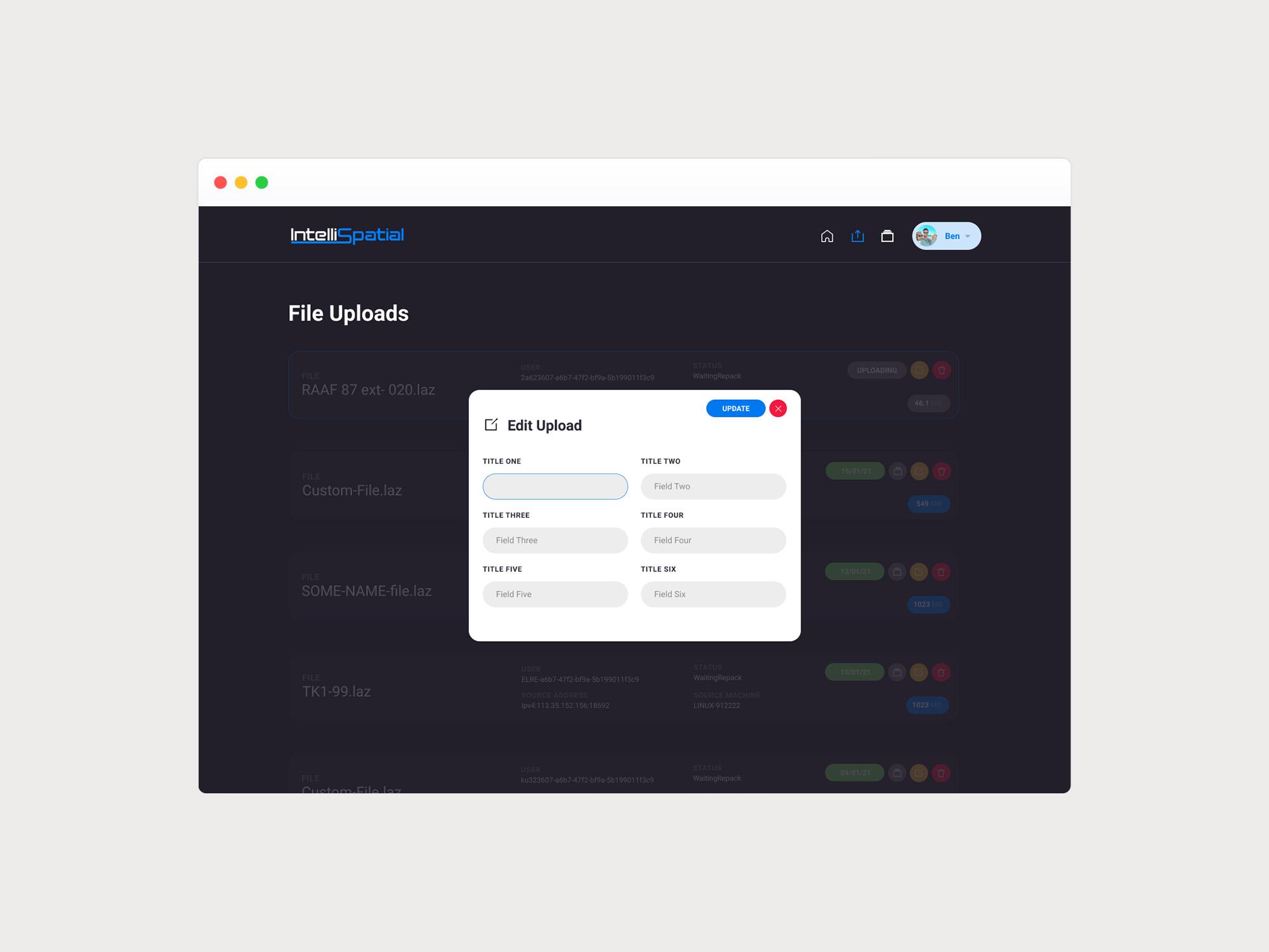 Edit File Upload UI